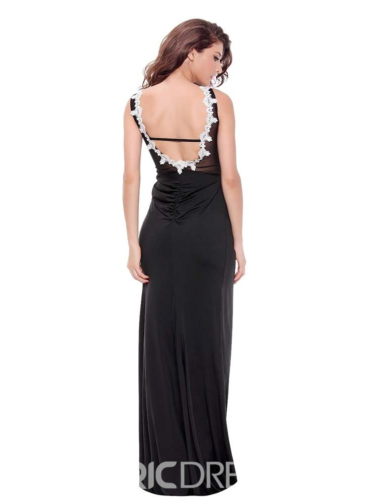 Ericdress Slit Up Backless Floor-Length Tight Wrap Sexy Dress