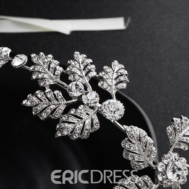 Ericdress Diamante Wedding Bride Flower Hair Band