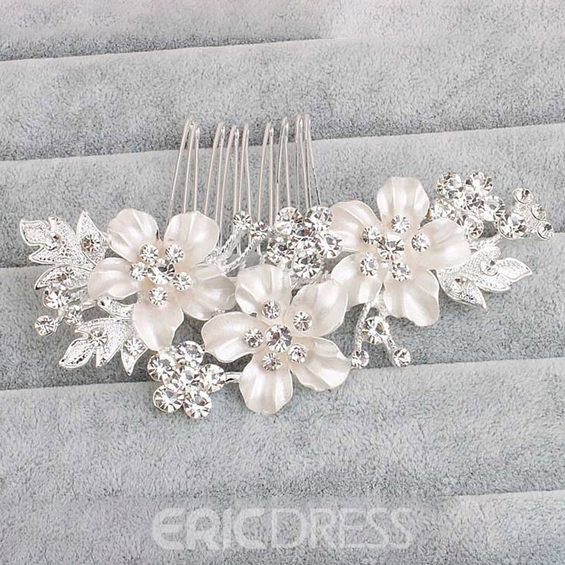Ericdress Wedding Floral Pearl Hairpin