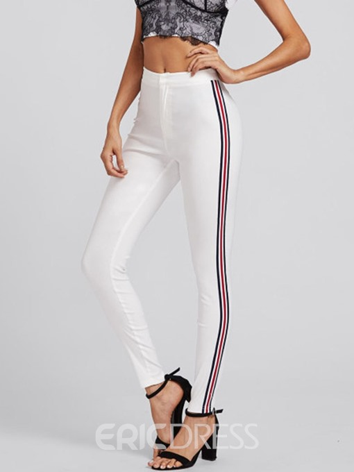 Ericdress Skinny Stripe Full Length Pencil Pants Casual Pants