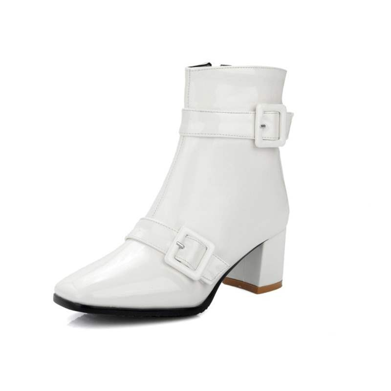 Ericdress Side Zipper Chunky Heel Ankle Boots