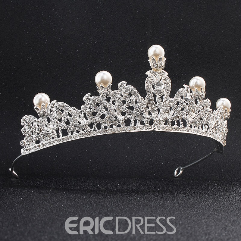 Ericdress Wedding Luxury Crystal Bride Pearl Tiara