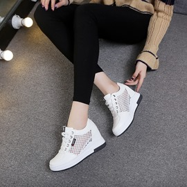Ericdress Patchwork Plain Lace-Up Round Toe Women's Sneakers