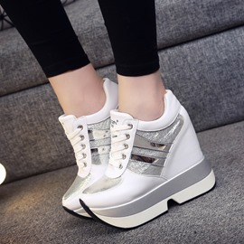 Ericdress Patchwork Color Block Lace-Up Women's Sneakers
