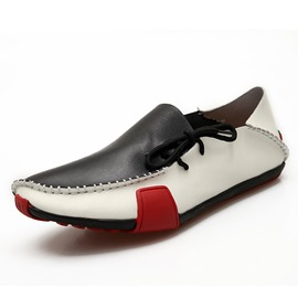 Ericdress Color Block Thread Lace-Up Men's Casual Shoes
