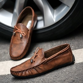Ericdress Bowknot Thread Slip-On Round Toe Men's Loafers