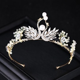 Ericdress Pearl Swan Bride Wedding Tiara
