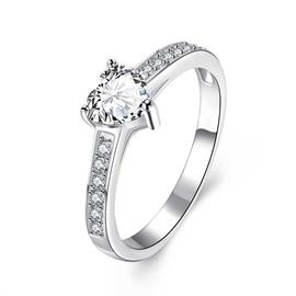 Ericdress Heart Cut Diamante Ring