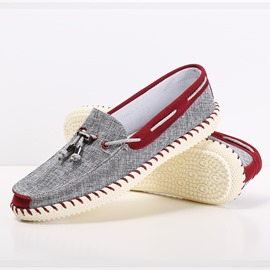 Ericdress Sewing Lace-Up Patchwork Slip-On Men's Loafers