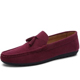Ericdress Suede Plain Slip-On Round Toe Men's Loafers