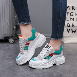 Ericdress Hollow Mesh Lace-Up Color Block Women's Sneakers