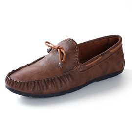 Ericdress Bowknot Slip-On Round Toe Men's Loafers