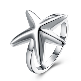 Ericdress Pentagram Plain Ring