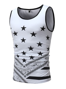 Ericdress Geometric Pattern Color Block Slim Mens Casual Vest