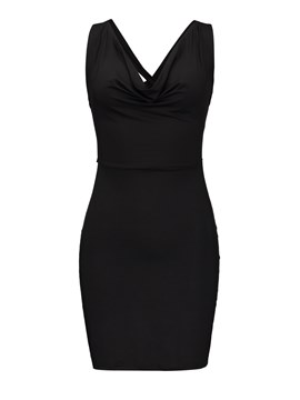 Black V Neck Sleeveless Bodycon Dress