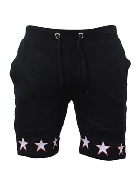 Ericdress Plain Star Shaped Print Lace Up Mens Casual Sports Shorts