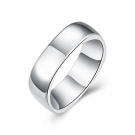 Ericdress Silver Plain Ring