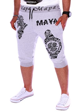 Ericdress Letter Printed Losse Mens Casual Sports Shorts