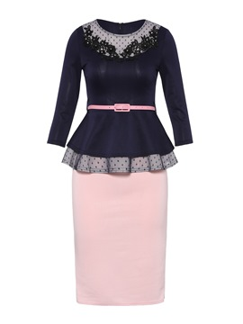 Ericdress Ruffles Jacket and Bodycon Skirt Women's Suit