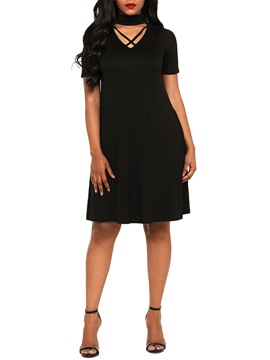Ericdress Pullover Knee-Length Simple A-Line Dress