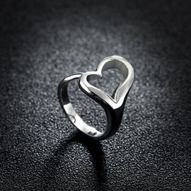 Ericdress Love You Silver Wedding Ring