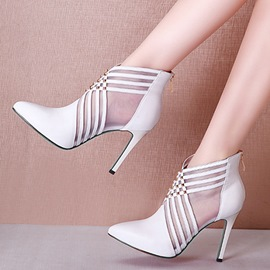 Ericdress Patchwork Pointed Toe High-Cut Stiletto Sandals