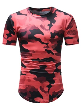 Ericdress Camouflage Scoop Mens Short Sleeve Shirts