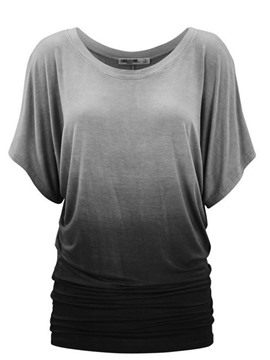 Ericdress Roll-up Pleated Loose Short Sleeve Womens T Shirt