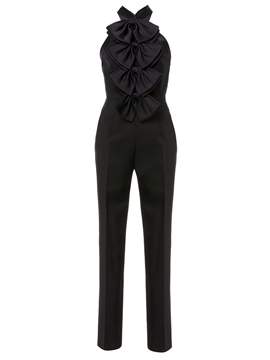 Ericdress Plain Bowknot Sleeveless Women's Jumpsuit