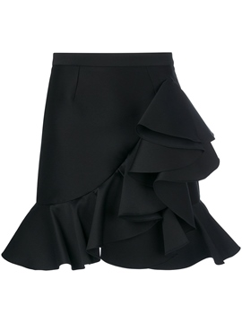 Ericdress Asymmetric Ruffles Women's Plain Skirt