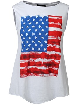 Ericdress Stripe Star Print Loose Womens Vest