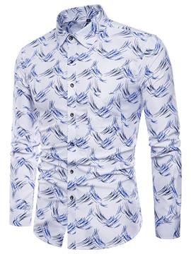 Ericdress Thread Printed Slim Long Sleeve Mens Casual Shirts