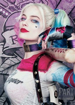 Ericdress Harley Quinn Hairstyle Cosplay Wigs Synthetic Hair Capless Wig 20 Inches