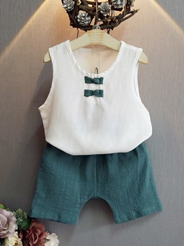 Ericdress Plain Vest & Shorts Boy's Summer Outfits