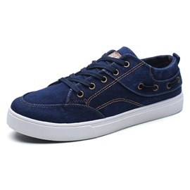 Ericdress Canvas Lace-Up Low-Cut Men's Sneakers