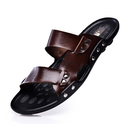 Ericdress PU Slip-On Plain Flip Flop Men's Sandals