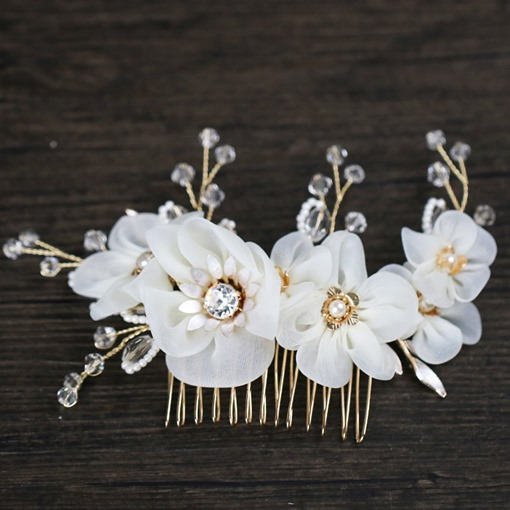 Ericdress Flower Rhinestone Bridal Wedding Hair Comb