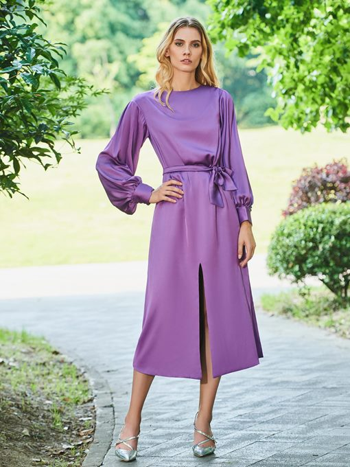 Ericdress A Line Long Sleeve Tea Length Cocktail Dress