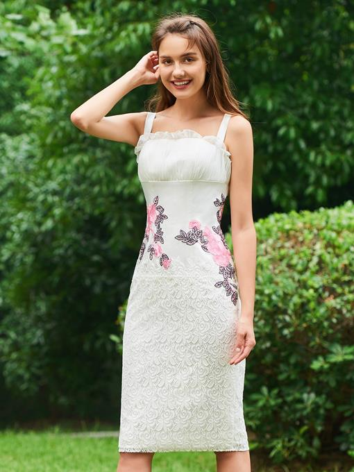Ericdress Sheath Applique Lace Cocktail Dress