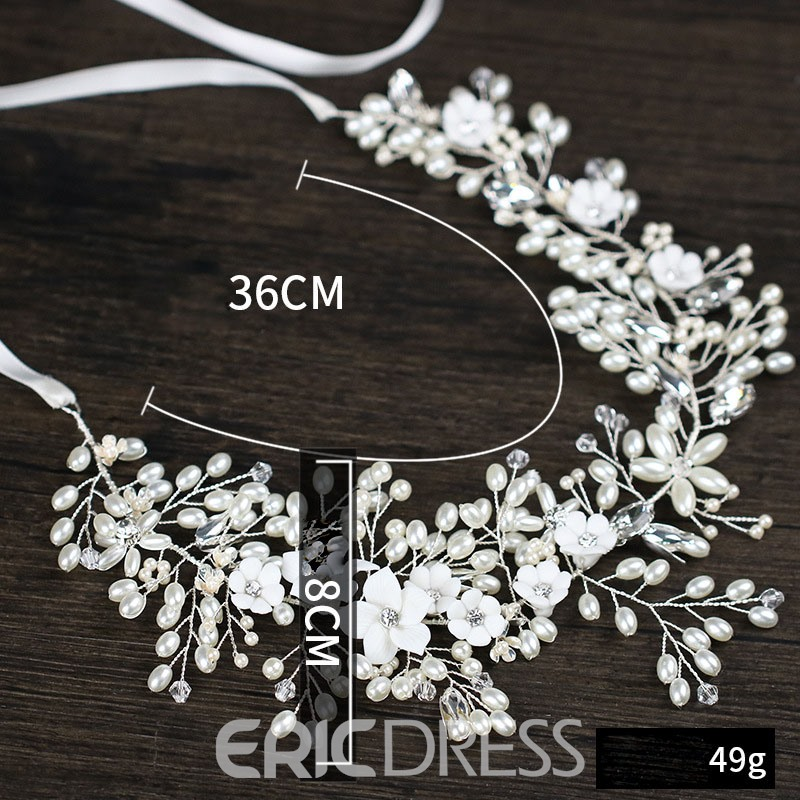 Ericdress Pearl Diamante Wedding Bride Hairband Accessories