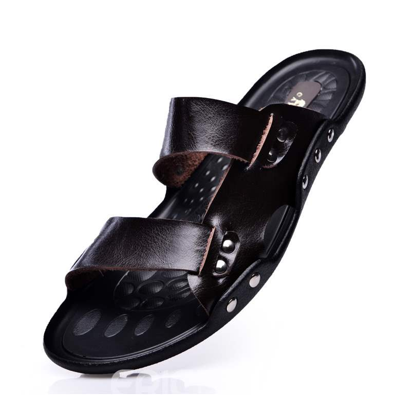 ericdress pu slip-on sandales plates pour hommes