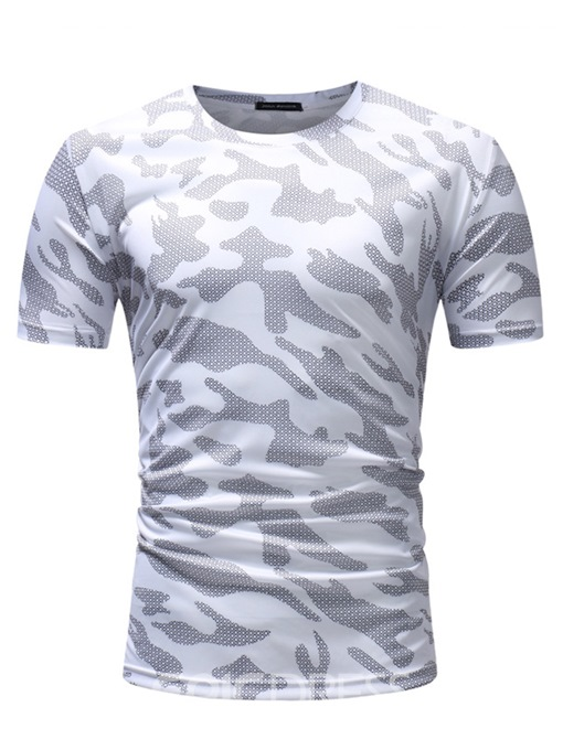 Ericdress Camouflage Straight Short Sleeve Mens Scoop T Shirts