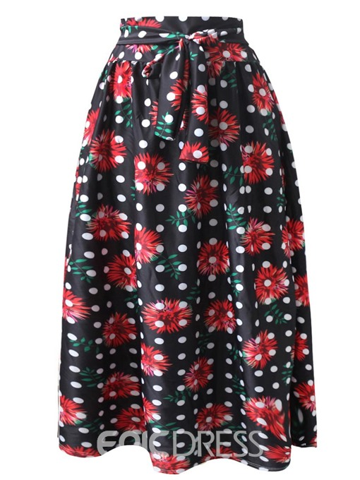 Ericdress A-Line Ankle-Length Print Women's Skirt