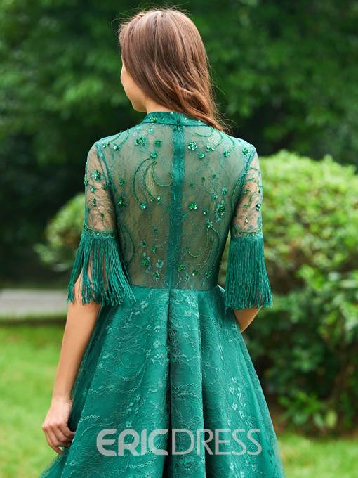 Ericdress A Line Half Sleeve Lace Cocktail Dress