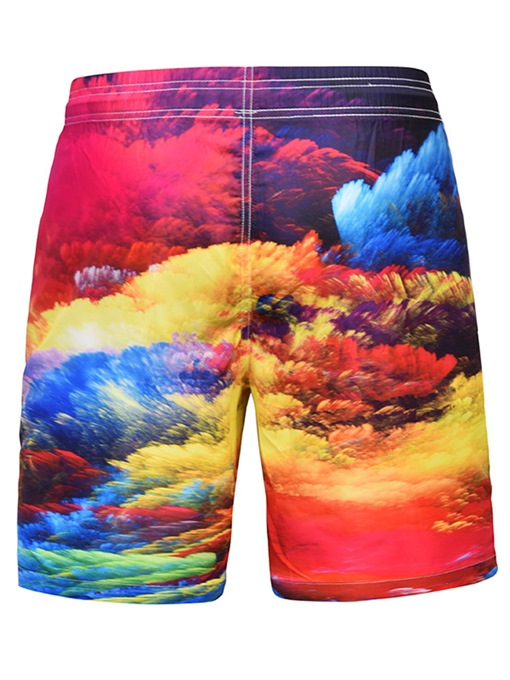 Ericdress Floral Loose Mid Waist Mens Beach Shorts