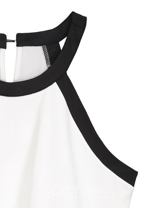 Ericdress Hollow Halter Plus Size Tank Top