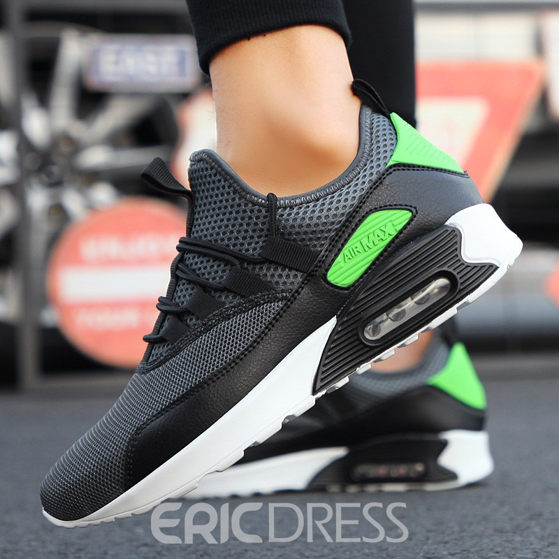 Ericdress Lace-Up Mesh Color Block Patchwork Men's Sneakers