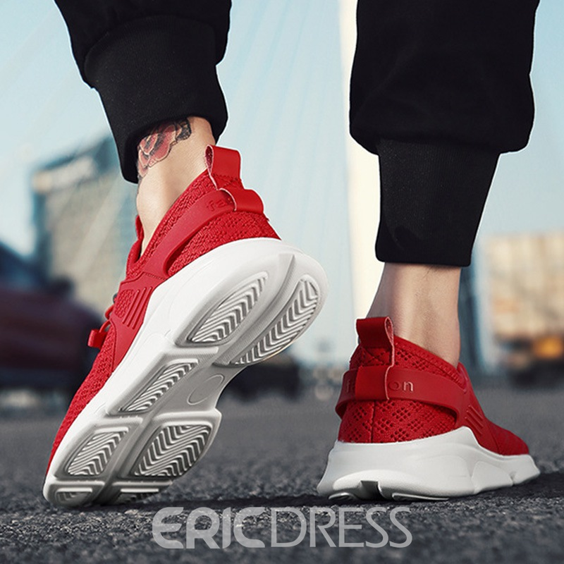 Ericdress Mesh Elastic Band Low-Cut Men's Sneakers