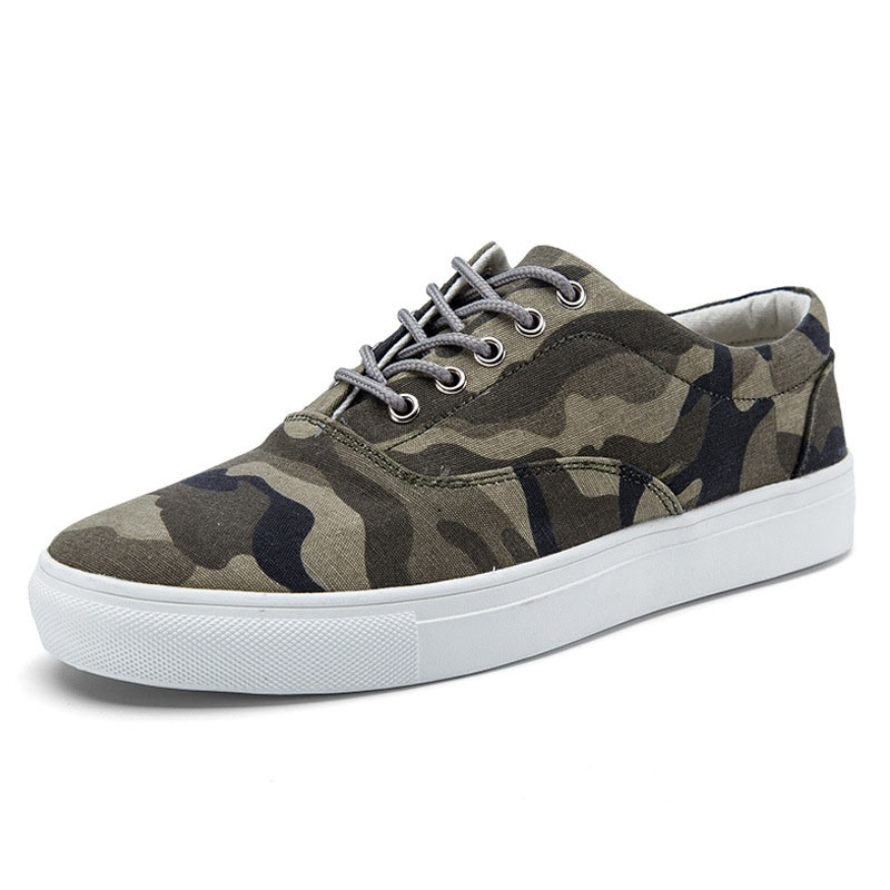 Camouflage Lace-Up Round Toe Men's Trainers free shipping get authentic sale official site official site cheap online AuxnH
