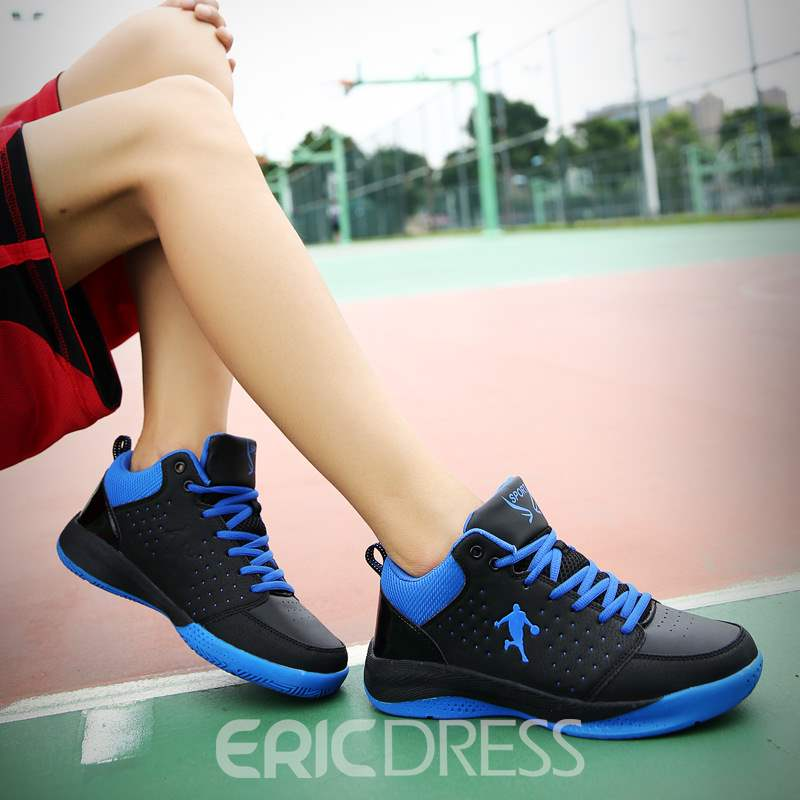 Ericdress Mesh Color Block Lace-Up Round Toe Men's Trainers